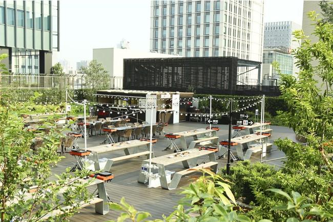 心地よい風が吹き抜けるオープンエアな屋上庭園で楽しむ「日本橋髙島屋S.C.BBQビアガーデン」4月21日(水)オープン!